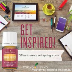 Young Living Essential Oils Brain Power blend promotes deep concentration and channels physical energy into mental energy. Ingredients: Frankincense, Sandalwood, Melissa, Cedarwood, Blue Cypress, Lavender, Helichrysum essential oil. Many of the essential oils in this blend are high in sesquiterpene compounds that increase activity in the pineal, pituitary, and hypothalamus glands and thereby increase output of growth hormone and melatonin. http://www.ylwebsite.com/homeopathy/brain-power