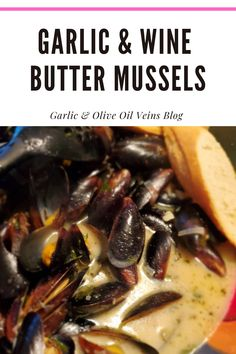 Wine Butter, Butter Sauce, Fish Recipes, Seafood Recipes, Simple Recipes, Healthy Recipes, Fancy Meals, Garlic Olive Oil, Mussels