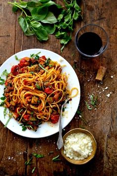 Pin from @beemcguire // roasted ratatouille pasta