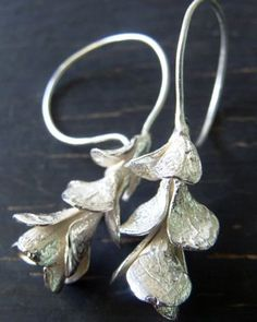 Sterling Silver Succulent Earrings