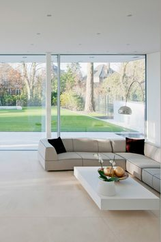 The air-lux sliding windows are the perfect complement for your modern and clean interior. This guarantees plenty of light and creates a pleasant atmosphere - with maximum safety and tightness at the same time.  Visit our webiste after clicking on the picture for more information about this particular object.   #airluxwindows #slidingwindows #swissmade #architecture #privatehome #northerngermany