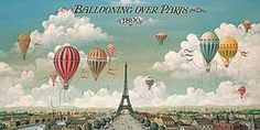 """Ballooning over Paris"" - Paris posters and prints available at Barewalls.com"