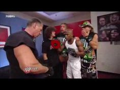 Backstage DX & Mr. Mcmahon & Raw's Guest Floyd Mayweather  Raw 8/24/2009
