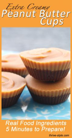 PB cups are super easy to make and they're way better than the store bought kind! After years of making them with coconut oil, I tried a new method--and the new version is 10 times creamier than the original! Still super easy, with real food ingredients, these pb cups are amazing.