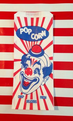Vintage Derby Hat Clown Popcorn Bags qty 30 by Jillybeankidsetsy, $3.99