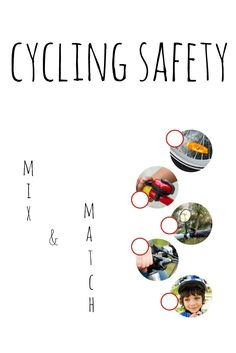 Can you match up these cycling safety concepts? Mix N Match, Ontario, Cycling, Safety, Printable, Concept, Cards, Security Guard, Biking