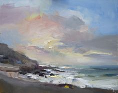 Paintings by Artist David Atkins | Sea at Portland