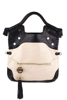 FOLEY + CORINNA Black/Creme City Tote