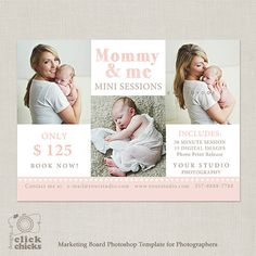 Mini Session - Mommy & Me - Photography Marketing Template 051 - Mothers Day - C185, INSTANT DOWNLOAD