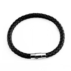 New Fashion Men Black Leather Bracelet Friendship Bracelets & Bangles Pulseras Hombre Punk Men Jewelry Gift SL1762