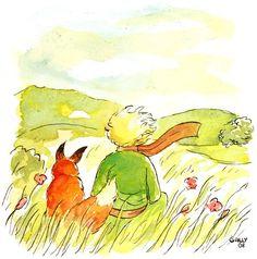 Le renard se tut et regarda longtemps le petit prince:  - S'il te plaît… apprivoise-moi ! dit-il.