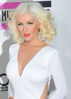 Pin for Later: Find Your Perfect New Hair Color Before Your Next Salon Visit White Blond Christina Aguilera Burlesque, Hair Color Guide, Hair Colour, Celebrity Hair Colors, Hollywood, New Hair Colors, Celebs, Celebrities, Blonde Highlights