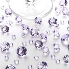 Deko Diamanten - Tischkristalle - flieder (auch weiß)