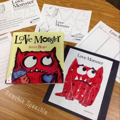 the peachie speechie: Love Monster book and freebie activities