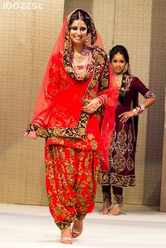 Beautiful #Desi Wedding Patiala Suit @ Sati Takhar's anniversary party at Warwickshire, via www.OozesCouture.com