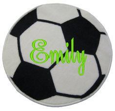 Soccer Ball Rug Personalized Free By TheSouthernPineapple On Etsy, $19.99