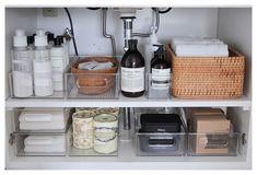 The Home Edit, Sink Organizer, Bathroom Organisation, Bathroom Interior Design, Bathroom Inspiration, Cosy Bathroom, Bathroom Counter Decor, Minimal Bathroom, Bathroom Ideas
