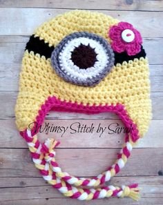 Girl Minion Hat  Made to Order by Whimsystitchbysarah on Etsy