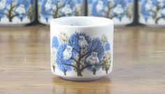Vintage Otagiri Kistchy Blue Owl Tea Cups #teacup #kitsch #retro #vintage #teaservice #owls #japan
