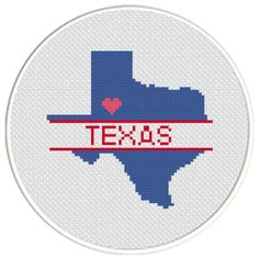 FREE for Nov 14th 2014 Only - Texas Love Cross Stitch Pattern