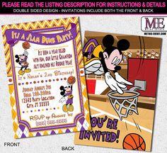 Mickey Mouse Invitations Birthday Invitation Mickey by MetroEvents