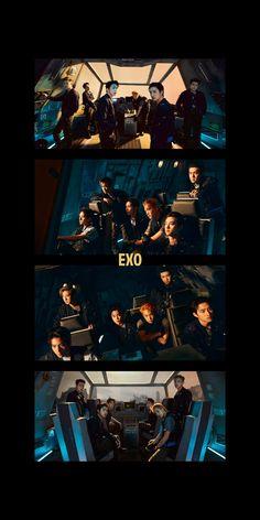 Kpop Exo, Exo K, Park Chanyeol, Baekhyun, Daily Exo, Exo Anime, Exo Lockscreen, Exo Members, Korean