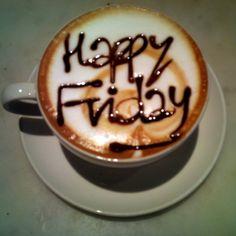 Happy Friday Coffee Enjoy your Weekend friends! Coffee Latte, I Love Coffee, Coffee Break, Coffee Time, Morning Coffee, Happy Coffee, Starbucks Coffee, Coffee Aroma, Coffee Today
