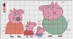 Gráficos para hacer en punto de cruz a diversos personajes infantiles como Pocoyó, Pepa Pig, la familia Telerín, Superman, Batman, muñecas Monster High o Mazinger Z.