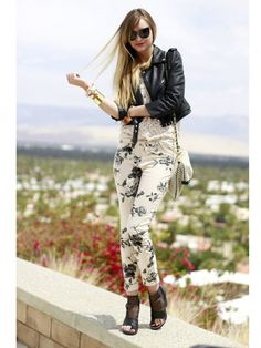 Lace and printed pants :)