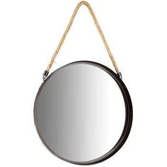 20.00Get Black Metal Round Mirror with Rope Hanger online or find other Wall Mirrors products from HobbyLobby.com