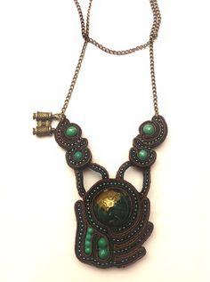 Handmade Soutache Necklace by FantasyOfSoutache on Etsy, $50.00