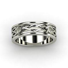 Men\'s Platinum Ring - Kells Celtic Wedding Band | Gemvara