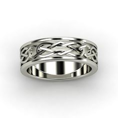 Men's Platinum Ring - Kells Celtic Wedding Band | Gemvara