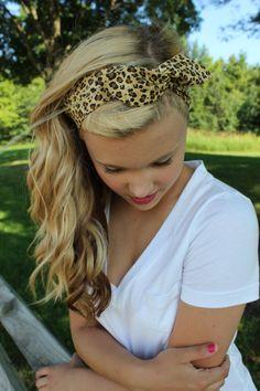Leopard Print Wired Headband Dolly Band Retro Animal Cheetah Winter Trend Headwrap