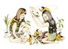 Mirror Mirror Illustrations by Andrea Wan http://designwrld.com/mirror-mirror-illustrations-by-andrea-wan/