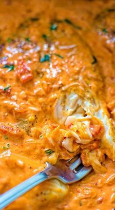 This Tilapia in Roasted Pepper Sauce is absolutely scrumptious, elegant and worthy of a special occasion. You won't believe how easy it is to make this tasty tilapia dinner! This is my most favorite tilapia recipe! Pescatarian Diet, Pescatarian Recipes, Fish Dinner, Seafood Dinner, Seafood Pasta, Fish Ideas For Dinner, Fish Pasta, Seafood Stew, Penne Pasta