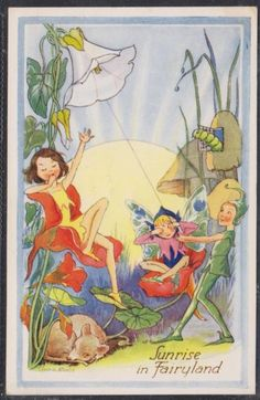 L.R. STEELE SUNRISE IN FAIRYLAND PRETTY FAIRY POSTCARD POSTED 1978 | eBay