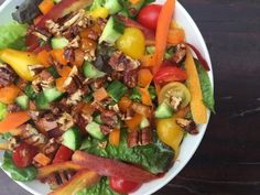 Fall Salad with Orange-Maple dressing