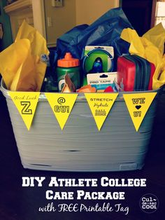 Creative College Care Package Ideas with Free Printable Tag