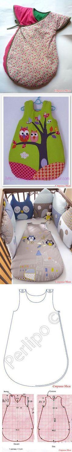 Спальный мешок для малышей. Идеи + выкройка. - Авторские уроки шитья... моделирование, крой, технология - Страна Мам | Шьем сами | Постила