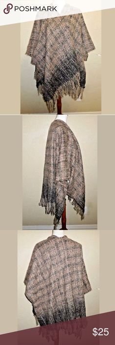 Do Everything In Love Nordstrom Poncho One Size  Do Everything In Love Nordstrom Poncho One Size   Great shape  Pink, grey & black  See all pics Do Everything In Love Sweaters Shrugs & Ponchos