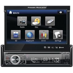 """Power Acoustik PTID-8920B 7"""" Motorized Touchscreen LCD DVD Receiver with Detachable Face and Bluetooth"""