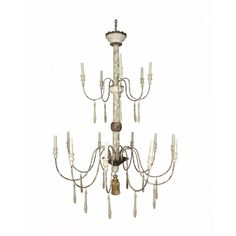 Bliss studio LA-2545 Montez Two-Tier Chandelier Dia 44 H 58 15 Lights $1995 #WispyFrench #TwoTierChandelier #LargeChandelier