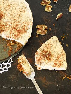 This Pumpkin Yogurt Pie is to die for. And! Made slightly less indulgent by subbing in Greek Yogurt.
