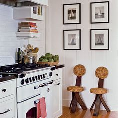 Subtle Nautical Kitchen:  http://www.coastalliving.com/homes/decorating/beautiful-beach-cottages-00414000071433/page16.html
