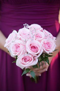 62 Ideas For Bridal Bouquet Pink Roses Bridesmaid Flowers - İpekce Fikirler Rose Bridesmaid Flowers, Bridal Bouquet Pink, Pink Rose Bouquet, Rose Wedding Bouquet, Bridal Flowers, Pink Roses, Wedding Decor, Wedding Cakes, Wedding Ideas