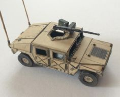 Created by Czech team from Britrex website, here is a very well done paper model version in 1/72 scale of the Humvee HMMWV M1025 Mk.2. You will need only one sheet of paper to build this little Humvee, and when assembled it will stay something about 7 cm long.
