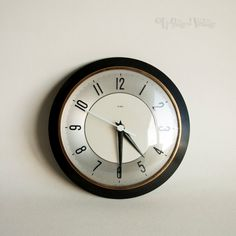 Vintage Retro 1950s/60s METAMEC Silver Face Wall Clock Not Working by UpStagedVintage on Etsy