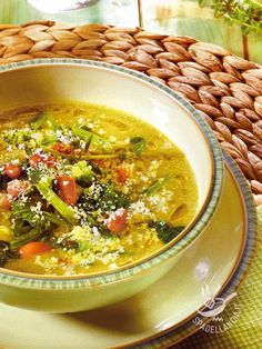 Soup Recipes, Cooking Recipes, Healthy Recipes, Zuppa Soup, Eating Light, Gnocchi, Italian Recipes, Veggies, Food And Drink