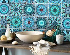 Kachel Aufkleber Vinyl Aufkleber wasserdichte Wandfliese oder Wallpaper für Küche Bad: ART001